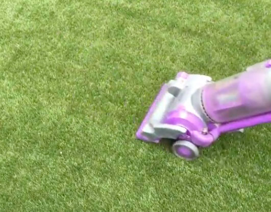 Can you vacuum fake grass